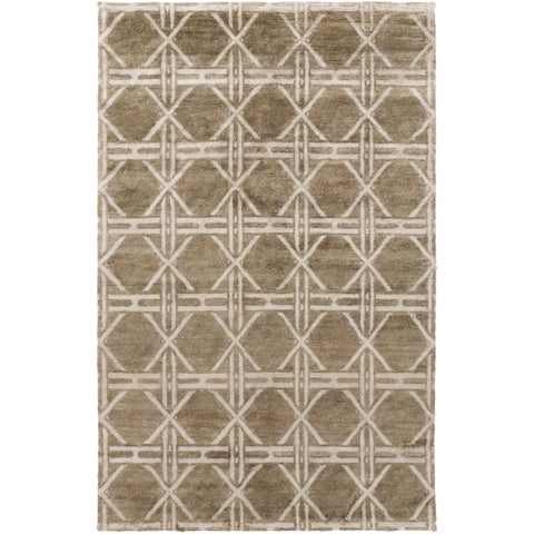 Hand-Knotted Mia Contemporary Rayon from Bamboo Area Rug - 2' x 3'