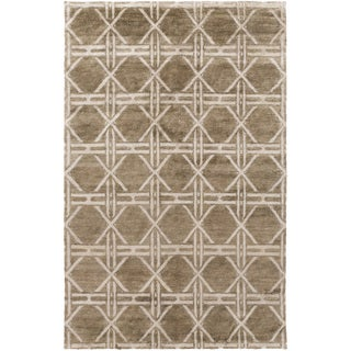Hand-Knotted Mia Contemporary Rayon from Bamboo Rug (2' x 3')
