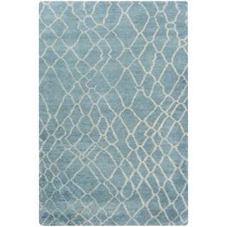 Hand-Knotted Arya Shag Cotton Area Rug - 2' x 3'