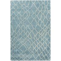 Hand-Knotted Arya Shag Cotton Area Rug - 2' x 3'