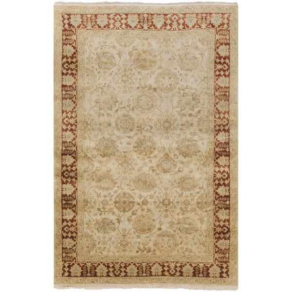 Hand-Knotted Brad Traditional New Zealand Wool Area Rug (2' x 3') - 2' x 3'