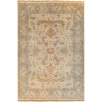 Hand-Knotted Jon Traditional New Zealand Wool Area Rug - 3'9 x 5'9