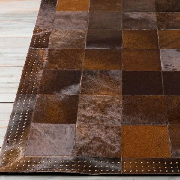 Handmade Aron Contemporary Leather Area Rug - 4' x 6'