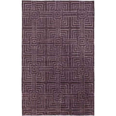 Hand-Knotted Mae Contemporary Rayon from Bamboo Area Rug