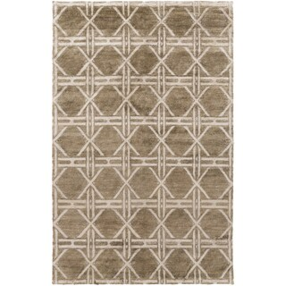 Hand-Knotted Mia Contemporary Rayon from Bamboo Area Rug - 5' x 8'
