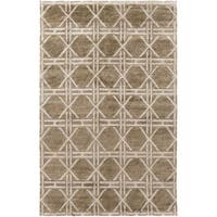 Hand-Knotted Mia Contemporary Rayon from Bamboo Area Rug (5' x 8')