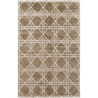 Hand-Knotted Mia Contemporary Rayon from Bamboo Rug (5' x 8')