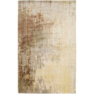 Hand-Knotted Ted Contemporary Wool Rug (5' x 8')