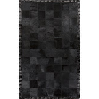 Handmade Aron Contemporary Leather Rug (5' x 8')