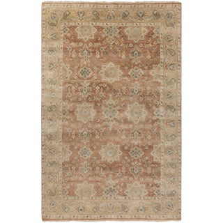 """Hand-Knotted Bryn Traditional New Zealand Wool Area Rug - 5'6"""" x 8'6"""""""