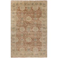 "Hand-Knotted Bryn Traditional New Zealand Wool Area Rug - 5'6"" x 8'6"""