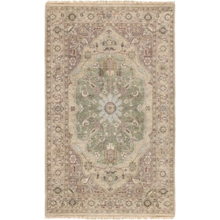 """Hand-Knotted Demi Traditional New Zealand Wool Area Rug - 5'6"""" x 8'6"""""""