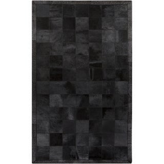 Handmade Aron Contemporary Leather Rug (8' x 10')