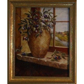 Nancy Wiseman 'Olives in Tuscany' Gold Framed Art Print