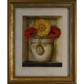 Lisa Audit 'Daisy Bouquet' Gold Framed Art Print