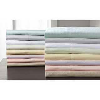 Concierge Microfiber Dobby Dot and Solid Sheet Sets (Pack of 2) (More options available)