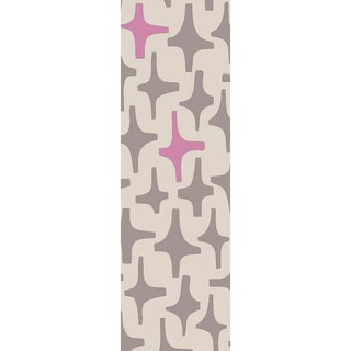 Lotta Jansdotter :Hand-Woven Dianne Abstract Wool Rug (2'6 x 8')