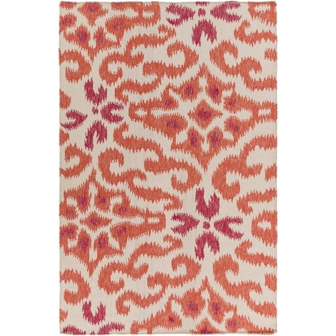 Hand-woven Bettie Ikat Reversible Area Rug