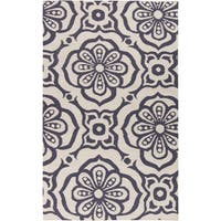 Hand-woven Camdyn Floral Reversible Area Rug - 5' x 8'