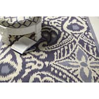 Hand-woven Cailyn Ikat Reversible Area Rug - 5' x 8'