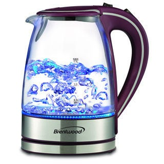 Brentwood KT-1900PR Royal Edition Purple Steel/ Glass 1.7-liter Cordless Electric Kettle