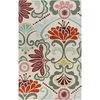 Hand-tufted Carley Floral Indoor Area Rug - 8' x 11'