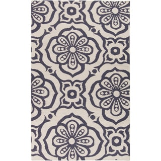Hand-woven Camdyn Floral Reversible Area Rug