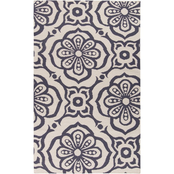 Hand-woven Camdyn Floral Reversible Rug (8' x 11')