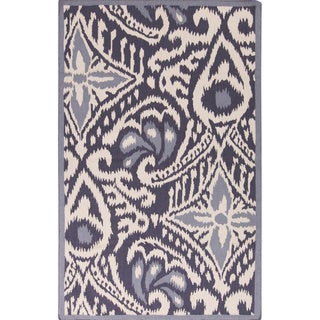 Hand-woven Cailyn Ikat Reversible Rug (8' x 11')