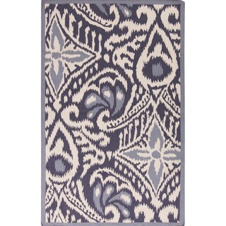 Hand-woven Cailyn Ikat Reversible Area Rug - 8' x 11'