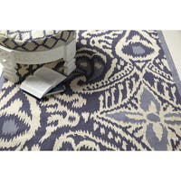 Hand-woven Cailyn Ikat Reversible Area Rug - 2' x 3'