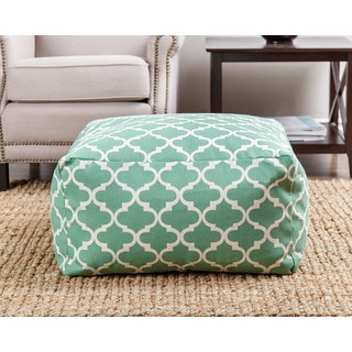 ABBYSON LIVING Milana Moroccan Green Lattice 27-inch Pouf