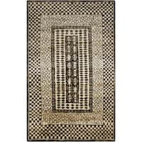 Hand-Knotted Veronica Border Jute Area Rug - 8' X 11'