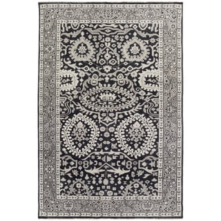 Hand-Knotted Weymouth Floral Wool Rug (2' x 3')