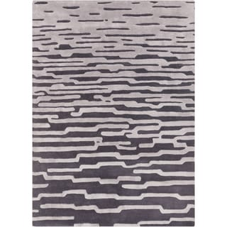 Hand-Tufted Jimmie Abstract Pattern Area Rug - 5' x 8'