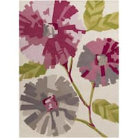Hand-Tufted Judith Floral Pattern Area Rug - 5' x 8'