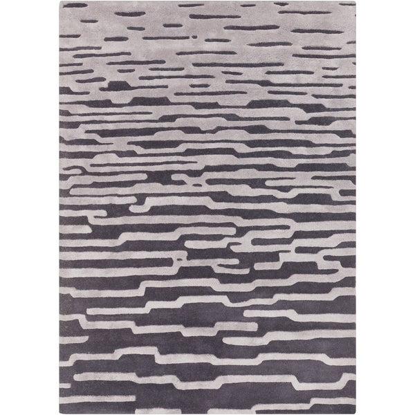 Hand-Tufted Jimmie Abstract Pattern Area Rug - 8' x 10'