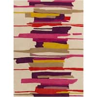 Hand-Tufted Johnny Stripe Pattern Area Rug - 8' x 10'