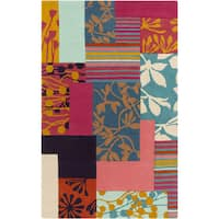 Hand-Tufted Julius Floral Pattern Area Rug - 9' x 12'