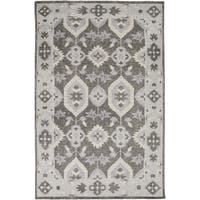 Hand-Knotted Leanna Border Wool Area Rug (5'6 x 8'6)