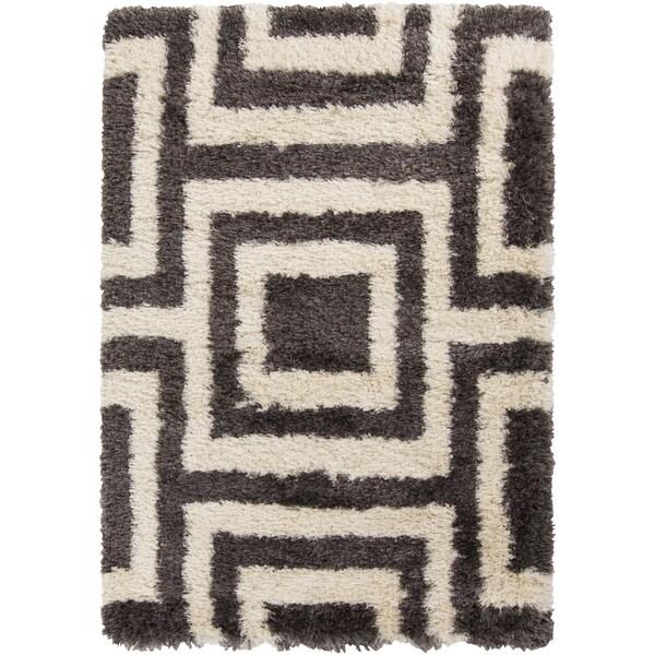 Hand-Woven Kenzie Geometric Polyester Rug (8' x 10')