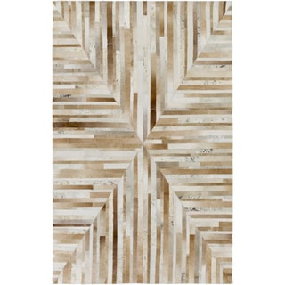 Hand-Crafted Kimberly Animal Leather Rug (8' x 10')