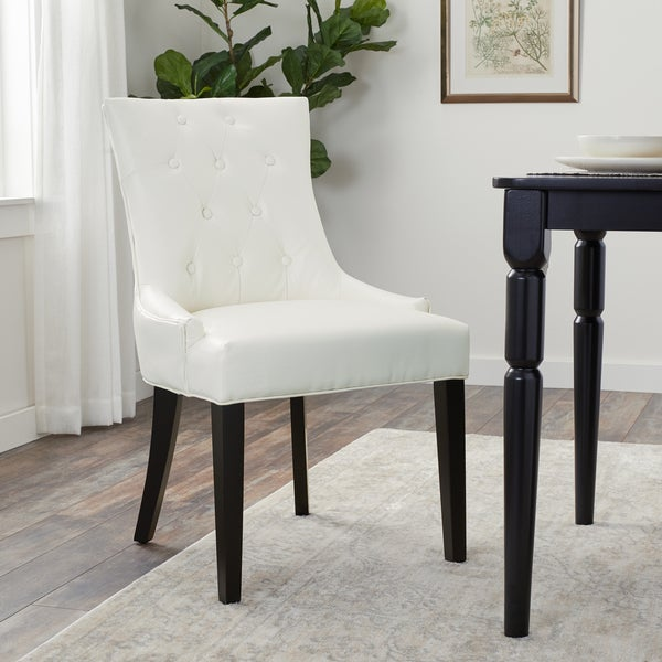 Ivory Leather Dining Room Chairs: Shop Abbyson Napa Ivory Leather Dining Chair