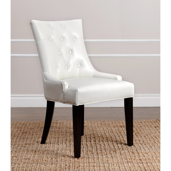 Abbyson Napa Ivory Leather Dining Chair Part 13