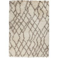 Hand Tufted Ikat Taupe Stone Area Rug 5 X 8 Free