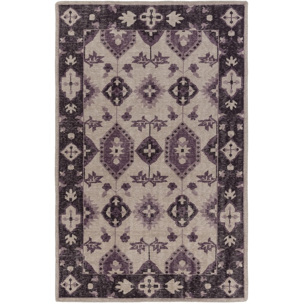 Hand-Knotted Leanna Border Wool Area Rug (8' x 11')