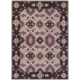 Hand-Knotted Leanna Border Wool Rug (8' x 11')