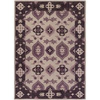 Hand-Knotted Leanna Border Wool Area Rug - 8' x 11'