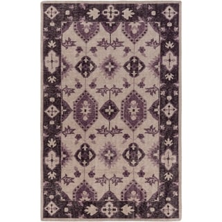 Hand-Knotted Leanna Border Wool Rug (3'6 x 5'6)