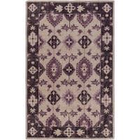 Hand-Knotted Leanna Border Wool Area Rug (3'6 x 5'6)